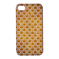 SCALES2 WHITE MARBLE & YELLOW GRUNGE Apple iPhone 4/4S Hardshell Case with Stand