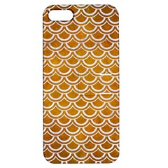 SCALES2 WHITE MARBLE & YELLOW GRUNGE Apple iPhone 5 Hardshell Case with Stand
