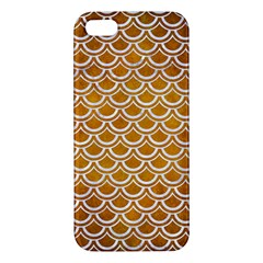 Scales2 White Marble & Yellow Grunge Apple Iphone 5 Premium Hardshell Case by trendistuff