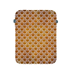 SCALES2 WHITE MARBLE & YELLOW GRUNGE Apple iPad 2/3/4 Protective Soft Cases