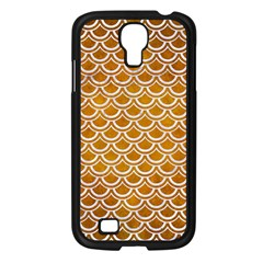 SCALES2 WHITE MARBLE & YELLOW GRUNGE Samsung Galaxy S4 I9500/ I9505 Case (Black)