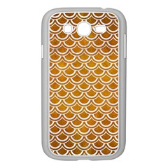 SCALES2 WHITE MARBLE & YELLOW GRUNGE Samsung Galaxy Grand DUOS I9082 Case (White)
