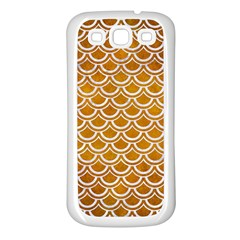 SCALES2 WHITE MARBLE & YELLOW GRUNGE Samsung Galaxy S3 Back Case (White)