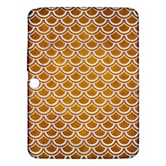 SCALES2 WHITE MARBLE & YELLOW GRUNGE Samsung Galaxy Tab 3 (10.1 ) P5200 Hardshell Case