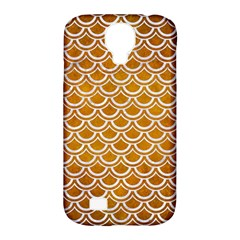 SCALES2 WHITE MARBLE & YELLOW GRUNGE Samsung Galaxy S4 Classic Hardshell Case (PC+Silicone)