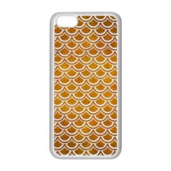 SCALES2 WHITE MARBLE & YELLOW GRUNGE Apple iPhone 5C Seamless Case (White)