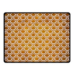 SCALES2 WHITE MARBLE & YELLOW GRUNGE Double Sided Fleece Blanket (Small)