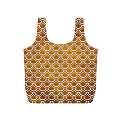 SCALES2 WHITE MARBLE & YELLOW GRUNGE Full Print Recycle Bags (S)