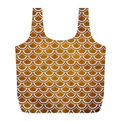 SCALES2 WHITE MARBLE & YELLOW GRUNGE Full Print Recycle Bags (L)