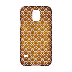 SCALES2 WHITE MARBLE & YELLOW GRUNGE Samsung Galaxy S5 Hardshell Case