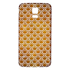 SCALES2 WHITE MARBLE & YELLOW GRUNGE Samsung Galaxy S5 Back Case (White)