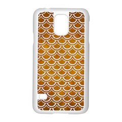SCALES2 WHITE MARBLE & YELLOW GRUNGE Samsung Galaxy S5 Case (White)