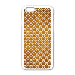 SCALES2 WHITE MARBLE & YELLOW GRUNGE Apple iPhone 6/6S White Enamel Case
