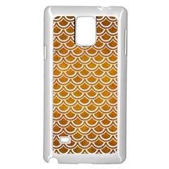 SCALES2 WHITE MARBLE & YELLOW GRUNGE Samsung Galaxy Note 4 Case (White)