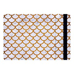 Scales1 White Marble & Yellow Grunge (r) Apple Ipad Pro 10 5   Flip Case by trendistuff