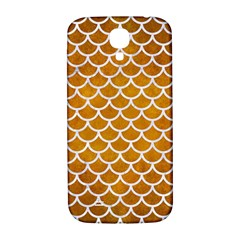 Scales1 White Marble & Yellow Grunge Samsung Galaxy S4 I9500/i9505  Hardshell Back Case by trendistuff