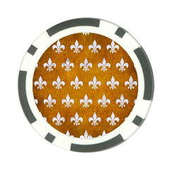 Royal1 White Marble & Yellow Grunge (r) Poker Chip Card Guard