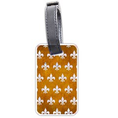 Royal1 White Marble & Yellow Grunge (r) Luggage Tags (one Side)  by trendistuff