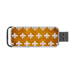 Royal1 White Marble & Yellow Grunge (r) Portable Usb Flash (two Sides) by trendistuff
