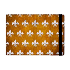 Royal1 White Marble & Yellow Grunge (r) Apple Ipad Mini Flip Case by trendistuff