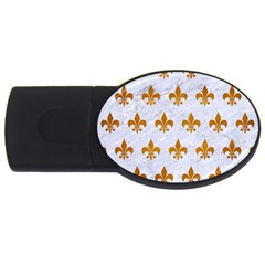 Royal1 White Marble & Yellow Grunge Usb Flash Drive Oval (4 Gb) by trendistuff