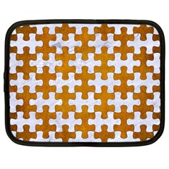 Puzzle1 White Marble & Yellow Grunge Netbook Case (large) by trendistuff