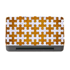 Puzzle1 White Marble & Yellow Grunge Memory Card Reader With Cf by trendistuff