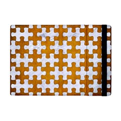 Puzzle1 White Marble & Yellow Grunge Apple Ipad Mini Flip Case by trendistuff