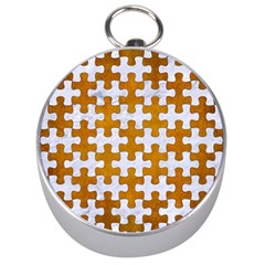 Puzzle1 White Marble & Yellow Grunge Silver Compasses by trendistuff
