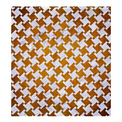 Houndstooth2 White Marble & Yellow Grunge Shower Curtain 66  X 72  (large)  by trendistuff