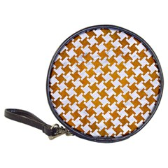 Houndstooth2 White Marble & Yellow Grunge Classic 20 Cd Wallets by trendistuff