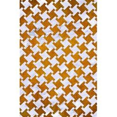 Houndstooth2 White Marble & Yellow Grunge 5 5  X 8 5  Notebooks by trendistuff