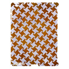 Houndstooth2 White Marble & Yellow Grunge Apple Ipad 3/4 Hardshell Case (compatible With Smart Cover) by trendistuff