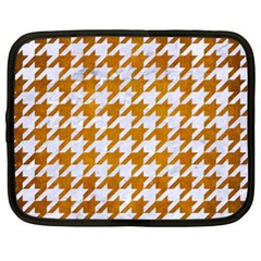 Houndstooth1 White Marble & Yellow Grunge Netbook Case (xxl)  by trendistuff