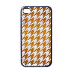 Houndstooth1 White Marble & Yellow Grunge Apple Iphone 4 Case (black) by trendistuff