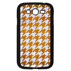 Houndstooth1 White Marble & Yellow Grunge Samsung Galaxy Grand Duos I9082 Case (black) by trendistuff