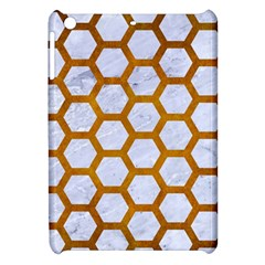 Hexagon2 White Marble & Yellow Grunge (r) Apple Ipad Mini Hardshell Case by trendistuff
