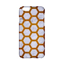 Hexagon2 White Marble & Yellow Grunge (r) Apple Iphone 6/6s Hardshell Case by trendistuff