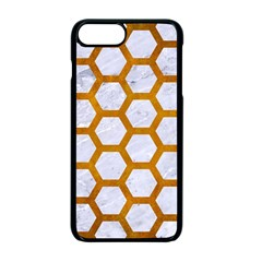 Hexagon2 White Marble & Yellow Grunge (r) Apple Iphone 7 Plus Seamless Case (black) by trendistuff