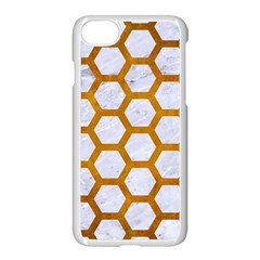 Hexagon2 White Marble & Yellow Grunge (r) Apple Iphone 7 Seamless Case (white) by trendistuff