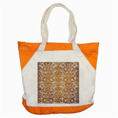 Damask2 White Marble & Yellow Grunge (r) Accent Tote Bag by trendistuff