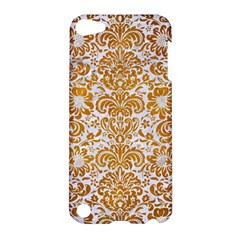 Damask2 White Marble & Yellow Grunge (r) Apple Ipod Touch 5 Hardshell Case by trendistuff