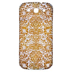 Damask2 White Marble & Yellow Grunge (r) Samsung Galaxy S3 S Iii Classic Hardshell Back Case by trendistuff