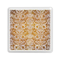 Damask2 White Marble & Yellow Grunge Memory Card Reader (square)  by trendistuff