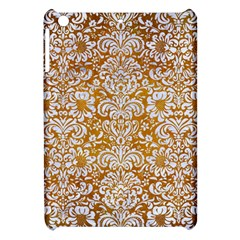 Damask2 White Marble & Yellow Grunge Apple Ipad Mini Hardshell Case by trendistuff