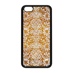 Damask2 White Marble & Yellow Grunge Apple Iphone 5c Seamless Case (black) by trendistuff