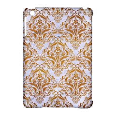 Damask1 White Marble & Yellow Grunge (r) Apple Ipad Mini Hardshell Case (compatible With Smart Cover) by trendistuff