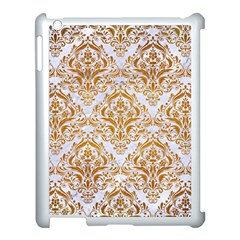 Damask1 White Marble & Yellow Grunge (r) Apple Ipad 3/4 Case (white) by trendistuff
