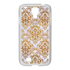 Damask1 White Marble & Yellow Grunge (r) Samsung Galaxy S4 I9500/ I9505 Case (white) by trendistuff