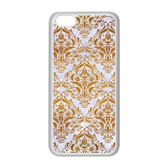 Damask1 White Marble & Yellow Grunge (r) Apple Iphone 5c Seamless Case (white) by trendistuff